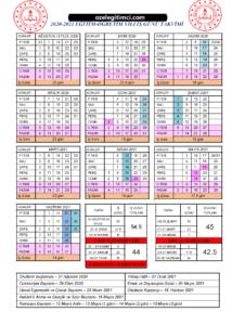 akademik meb çalışma takvimi 2020-2021